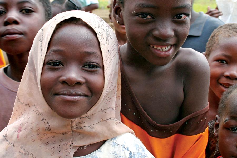Lächelende Kinder